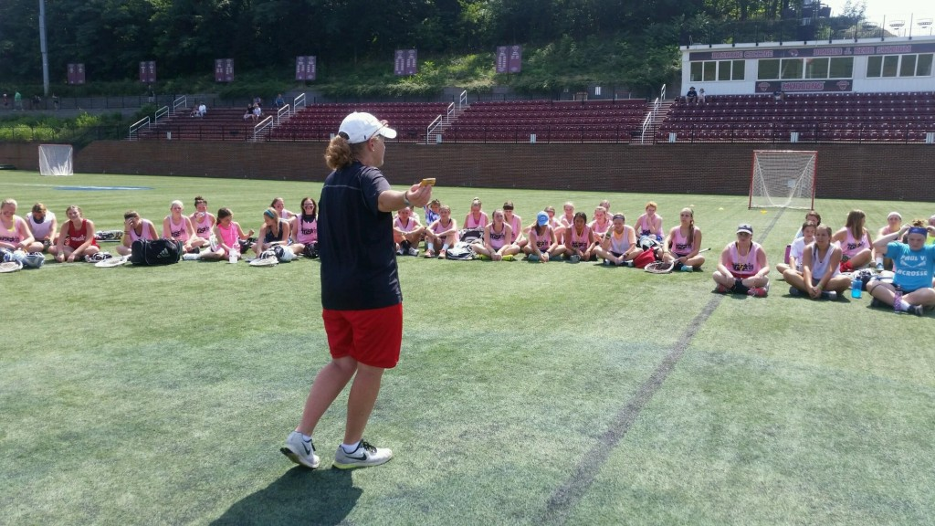 Coach Schwartz with the campers